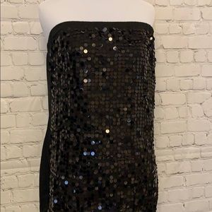 Maurices Tops - Maurices Black Strapless Sequins Top
